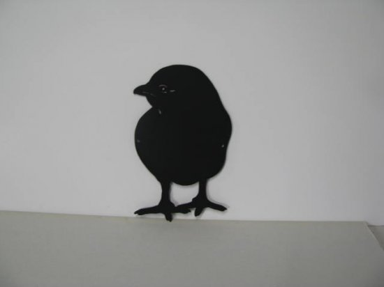 Baby Chick 005 Metal Wall Yard Art Silhouette