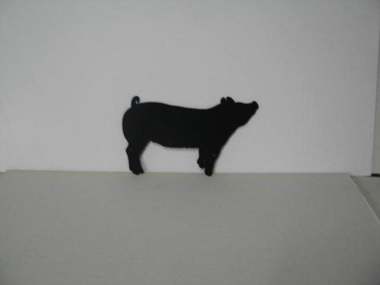 Pig 024 Metal Wall Yard Art Silhouette