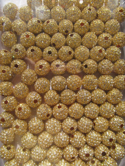 top quality 10mm 60pcs,high quality  bling ball ,metal & czech rhinestone spacer round silver gold black mixed  jewelry beads