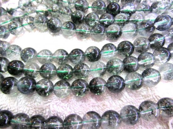 6 8 10 12mm full strand  wholesale green quartz hair Rutilated Quartz round ball smooth charm beads