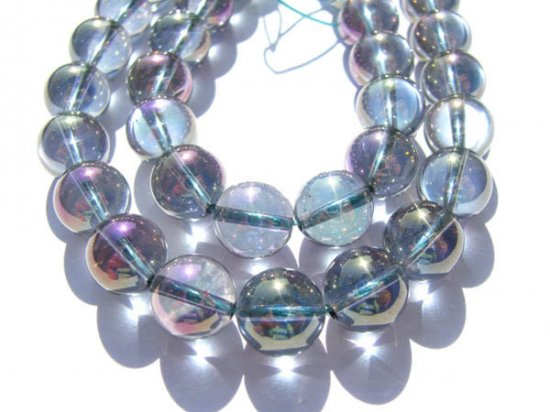 high quality blue quartz beads, 12mm 5strands 16inch strand,round ball mystc AB crystal gorgeous jewelry beads