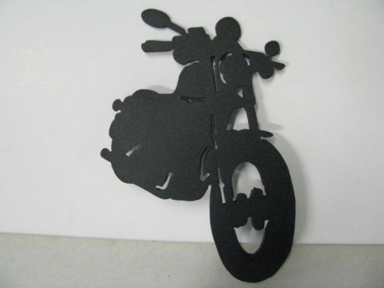 Motorcycle 005 Metal Art Silhouette