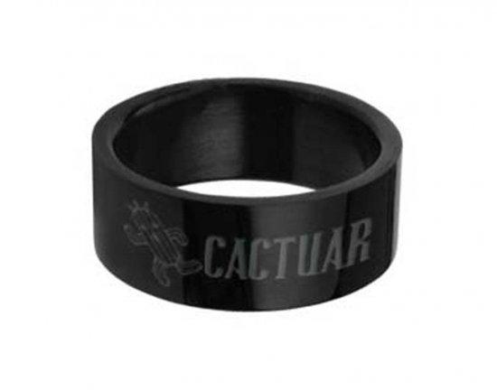 Final Fantasy CACTUAR Black Stainless Steel Ring
