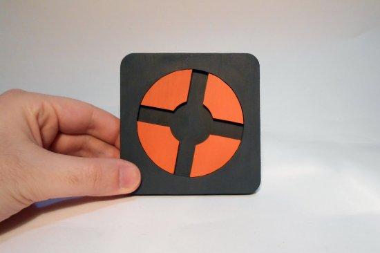 Handmade Team Fortress 2 coaster