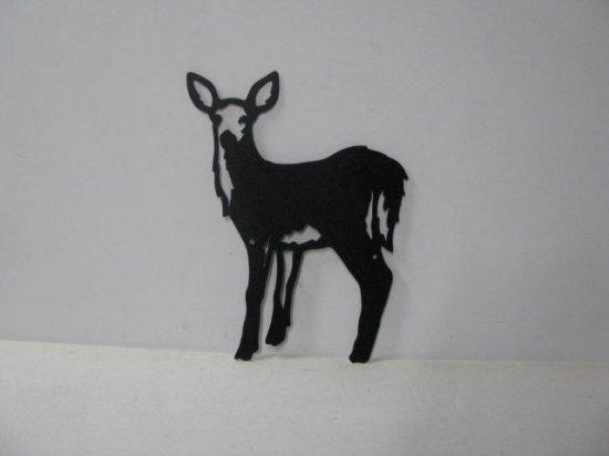 Deer 065 Large Standing Wildlife Metal Art Silhouette