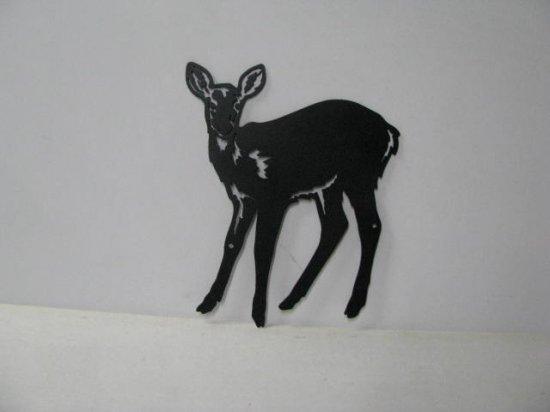 Deer 068 Large Standing Wildlife Metal Art Silhouette