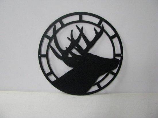 Deer Circle 003 Large Wildlife Metal Art Silhouette