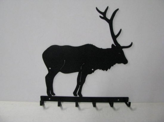 Elk 001A Standing 6 Hook Key Holder Silhouette