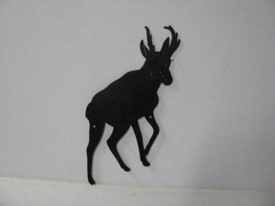 Pronghorn 004 Large Walking Rustic Wildlife Metal Art Silhouette