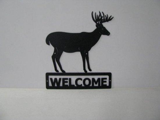 Buck 037 Standing Welcome Sign Metal Art