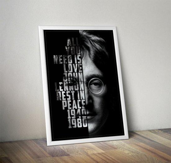 John Lennon (11 x 17 inch, A3) poster