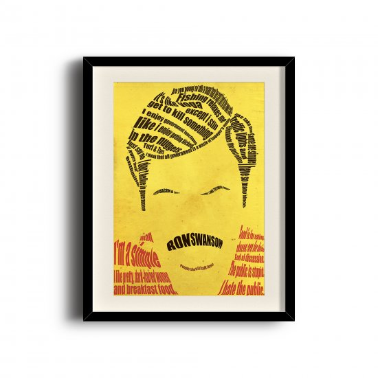 Ron Swanson typographic poster (11 x 17 inch, A3)