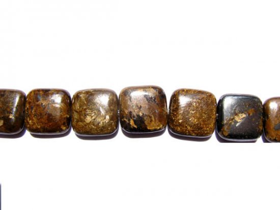 bulk natural bronzite gergous  8mm 5strands 16inch strand,square box golden jewelry beads