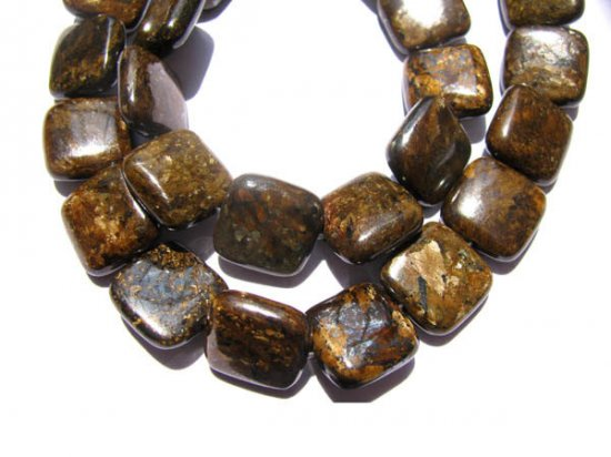 bulk natural bronzite gergous  10mm 5strands 16inch strand,square box golden jewelry beads