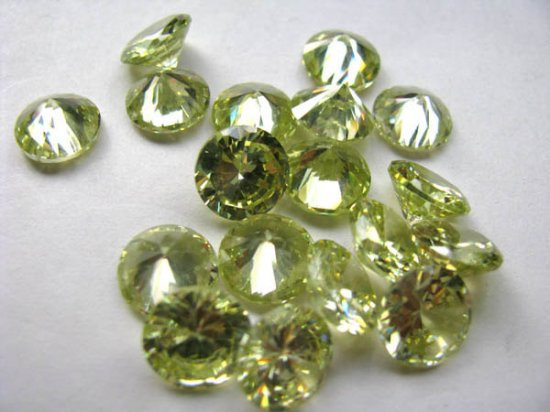 bulk cubic zirconia gemstone rondelle bicone  faceted lite green  assortment  jewelry beads cabochons 5mm 100pcs