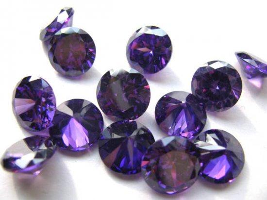 bulk cubic zirconia gemstone rondelle bicone  faceted violet purple  assortment  jewelry beads cabochons 5mm 100pcs