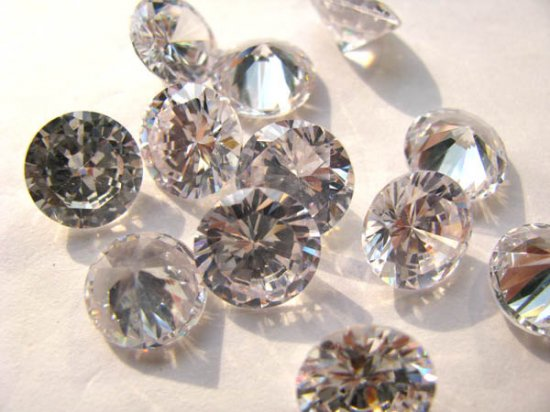 bulk cubic zirconia gemstone rondelle bicone  faceted clear white assortment  jewelry beads cabochons 3mm 100pcs