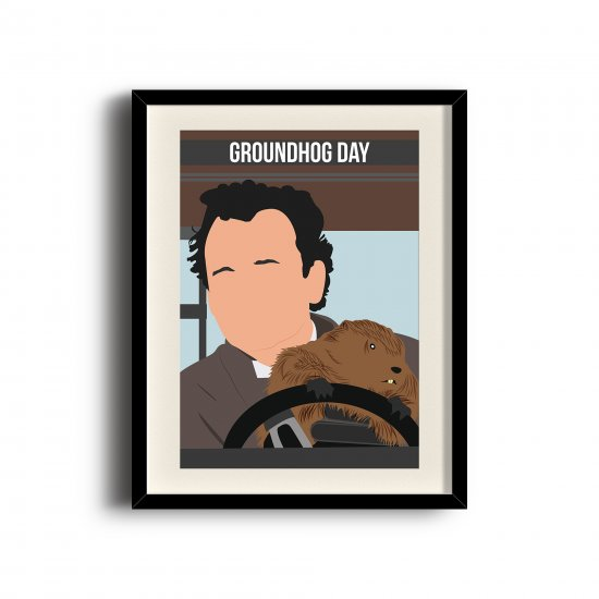 Groundhog Day poster, Bill Murray digital art poster digital art poster