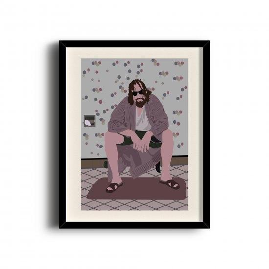 Big Lebowski, Dude minimalist poster, Big Lebowski digital art poster
