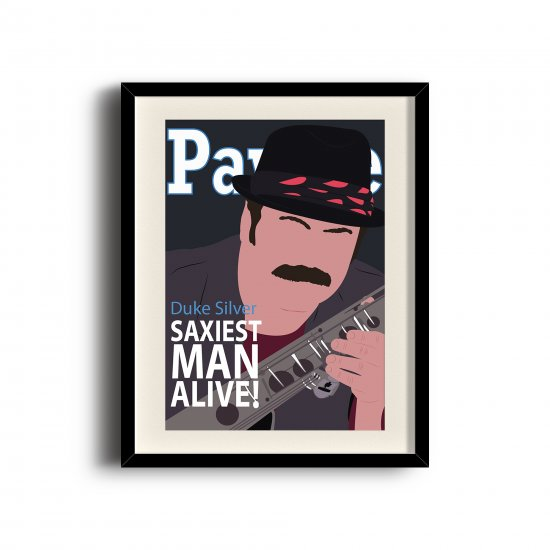 Duke Silver, Ron Swanson minimalist poster (11 x 17 inch, A3)