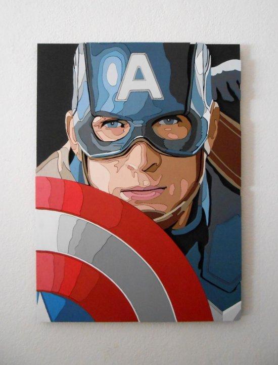 Captain America wall art