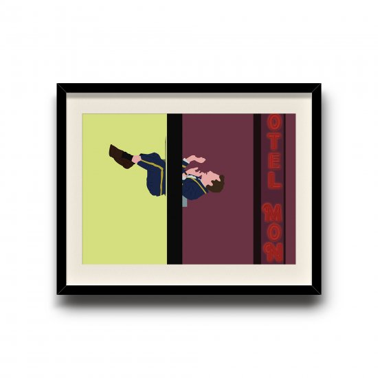 Four Rooms minimalist poster, Four Rooms digital art poster