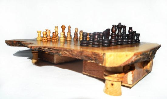 wood oriental chess set handmade gift idea  , jeux d'chec en olivier