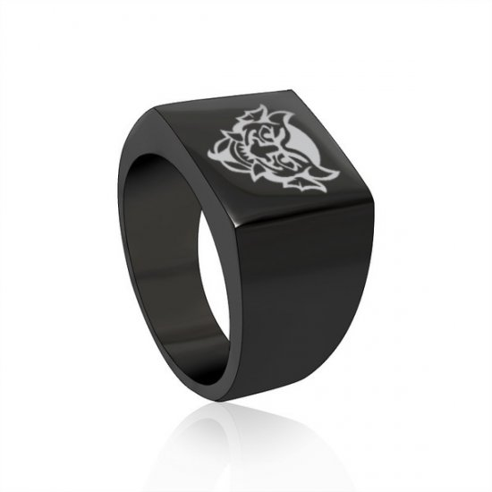 Bioshock Devil's Kiss Vigor Square Stainless Steel Ring