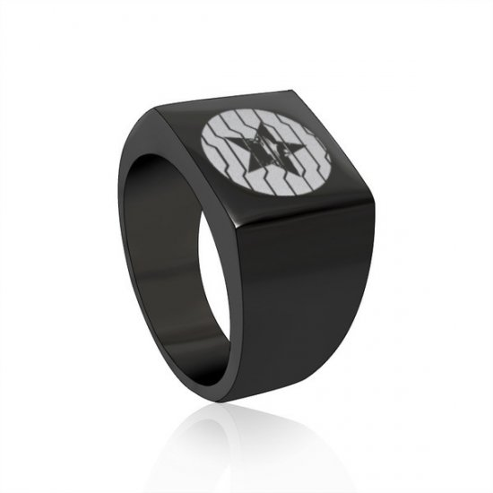 Winter Soldier Square Stainless Steel Ring