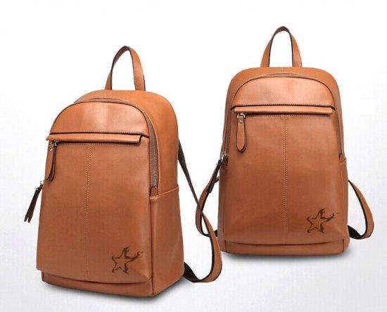 Black Rock Shooter Star Genuine Leather Backpack