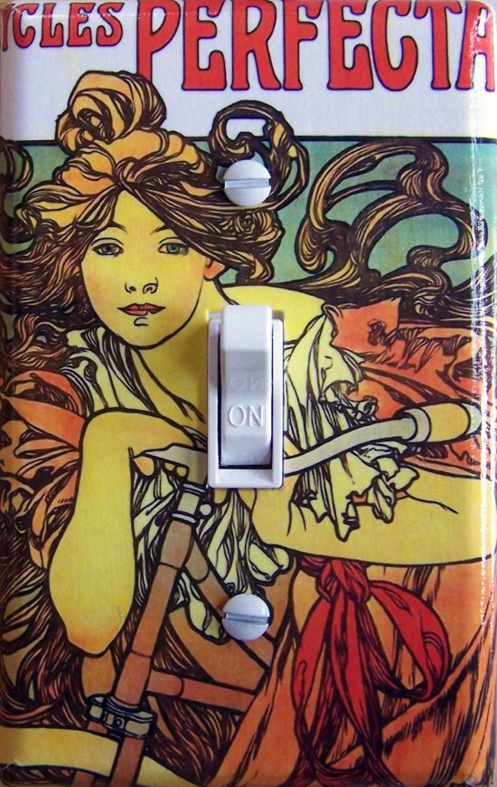 MUCHA CYCLE vintage poster Switch Plate (single)