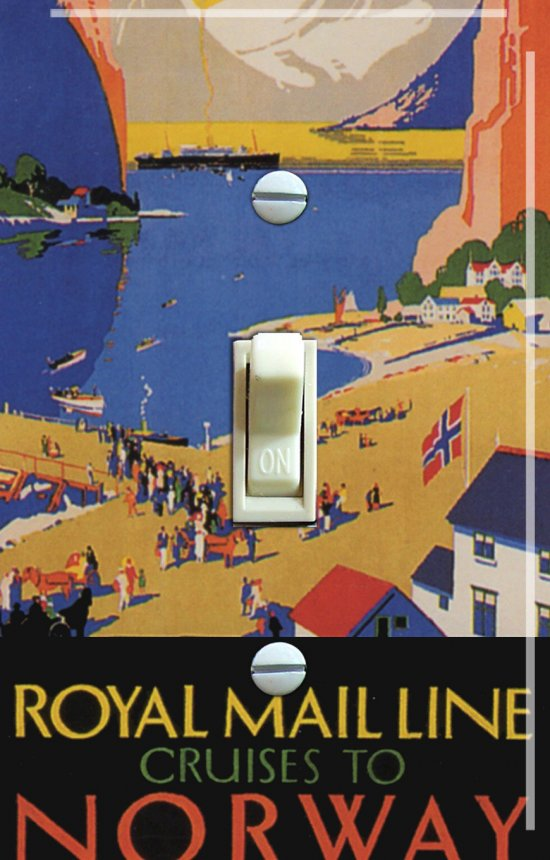NORWAY Cruise Vintage Travel Poster Switch Plate (single or double)