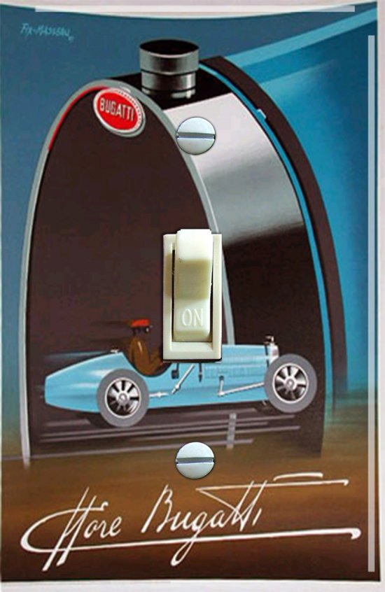 Vintage Bugatti Switch Plate