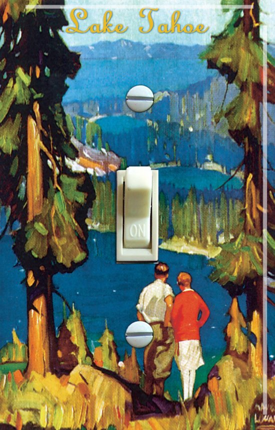 Tahoe Region vintage poster SWITCH PLATE