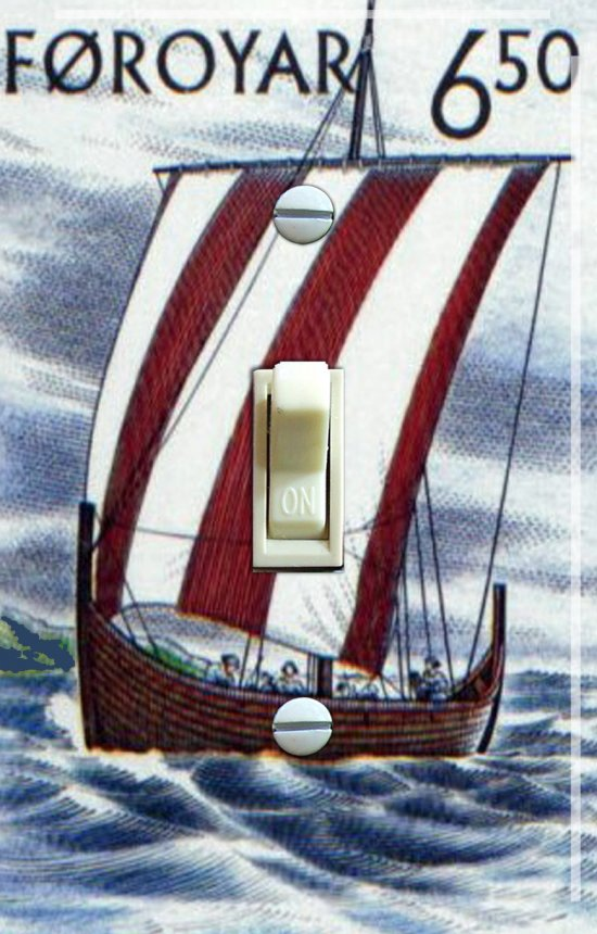 VIKING Ship Vintage Travel Poster Switch Plate (single)