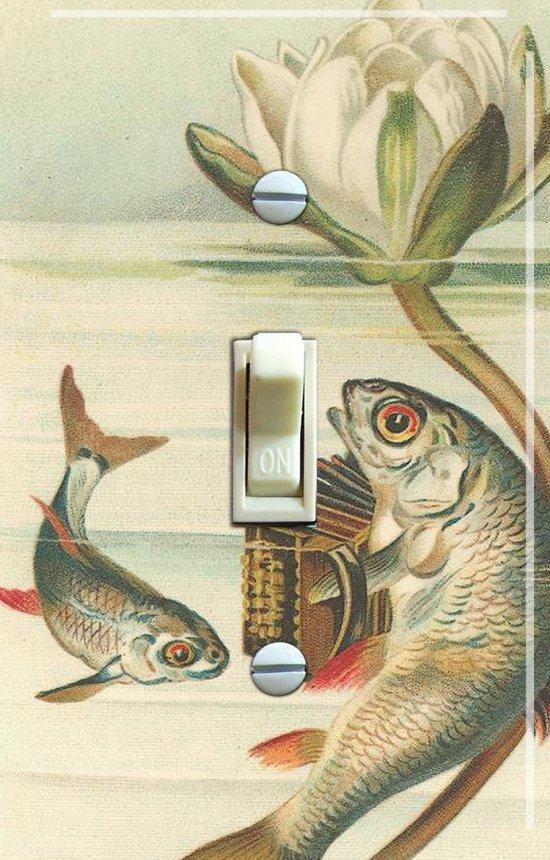 ACCORDION KOI Vintage Art Switch Plate (single)
