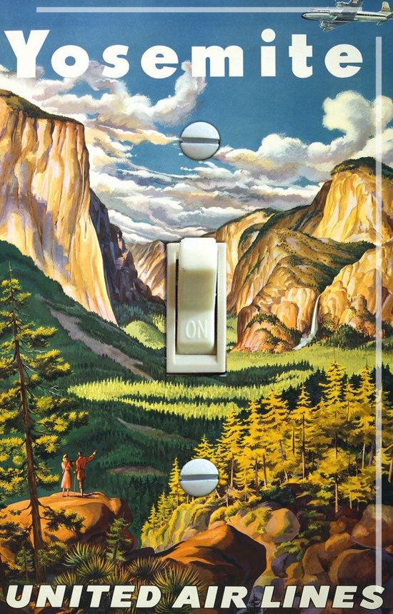 YOSEMITE Vintage Travel Poster Switch Plate (single)