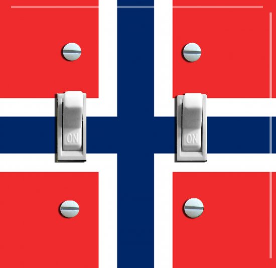 NORWEGIAN FLAG Switch Plate (double)