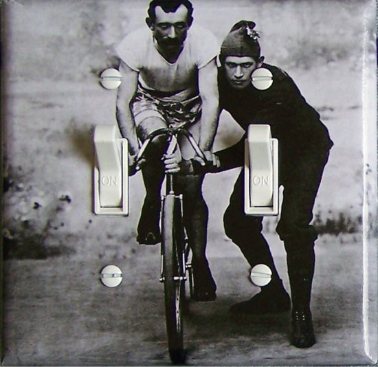 ELF BIKE Vintage Photograph Switch Plate (double)