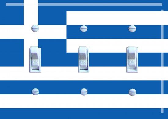 GREEK Flag Triple Switch Plate