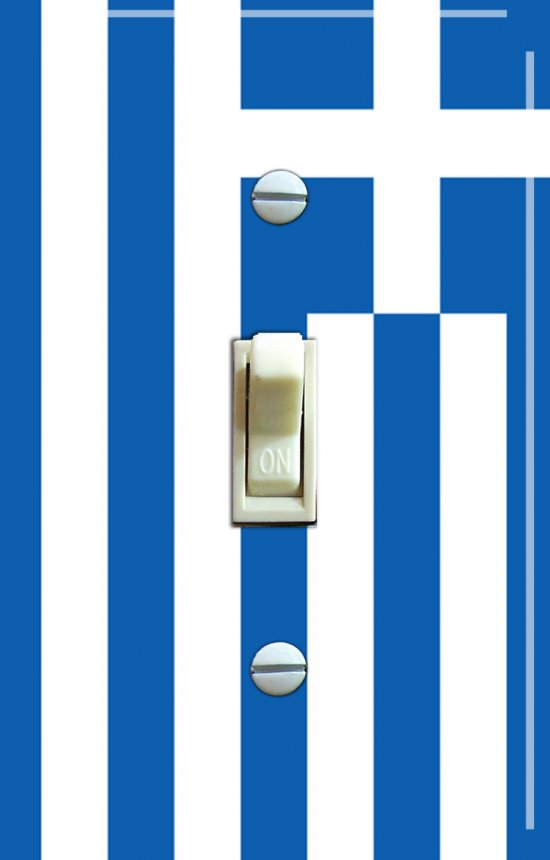 GREEK Flag Single Switch Plate