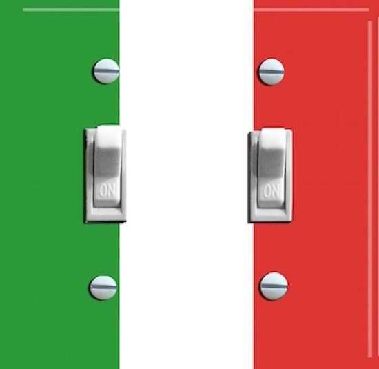 ITALY FLAG Double Switch Plate