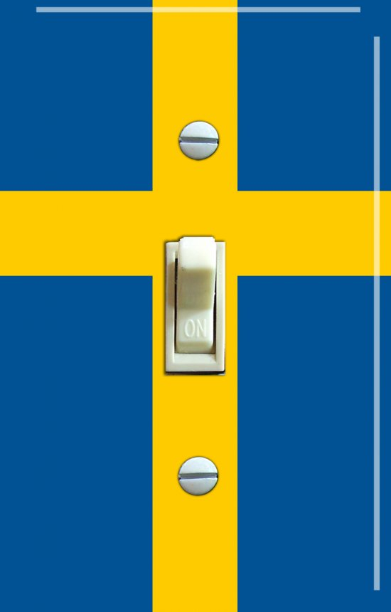 SWEDEN Flag Single Switch Plate