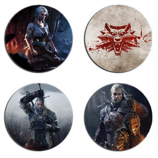 The Witcher Set Of 4 Wood Drink Coasters on CraftIsArt