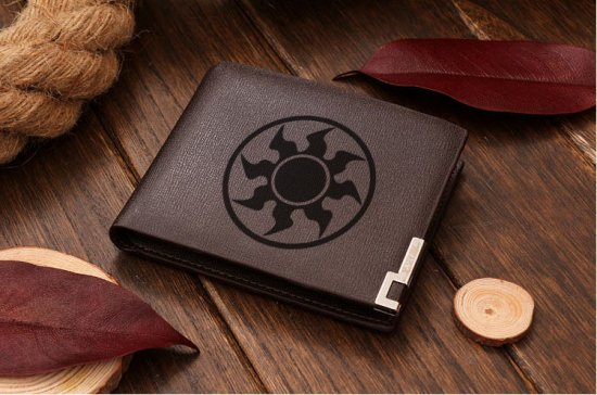 MTG Magic White Mana symbol Leather Wallet