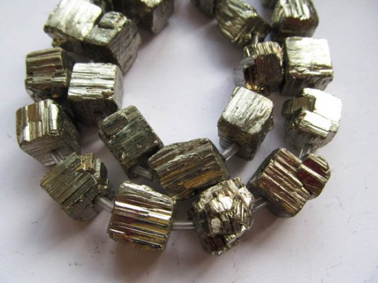 10-20mm  full strand genuine Raw pyrite  stone nuggets bead freeform iron gold box square squaredelle irregular cube faceted  pyrite beads
