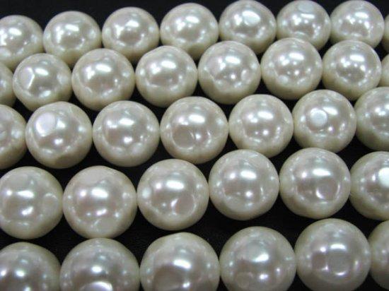 6-12mm  full strand Pearl Gergous beads Round ball   white dark black yellow red blue mixed jewelry beads