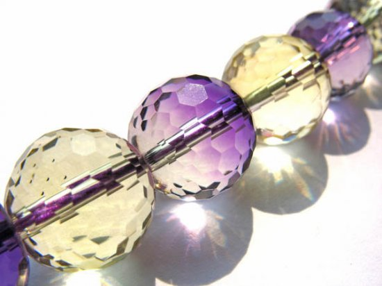 AA+ Ametrine quartz Amethyst Citrine rock crystal round ball faceted briolette jewelry beads 8 10 12mm full strand
