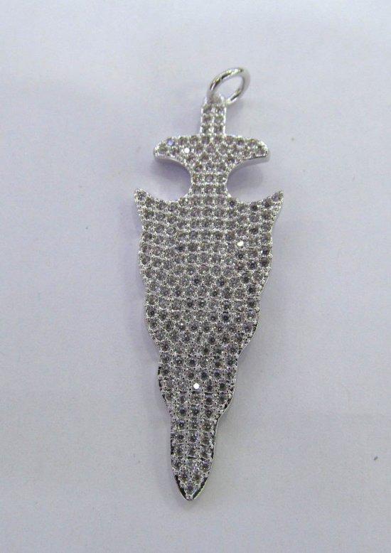 12pcs 18-50mm CZ Micro Pave Diamond Cubic Zirconia teadrop drop  earrings  Healing Hand sharp spikes triangle arrow Charms Pendants