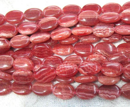 wholesale 2strands 8-20mm  pink rhodochrosite gemstone oval egg  red veins  jewelry bead
